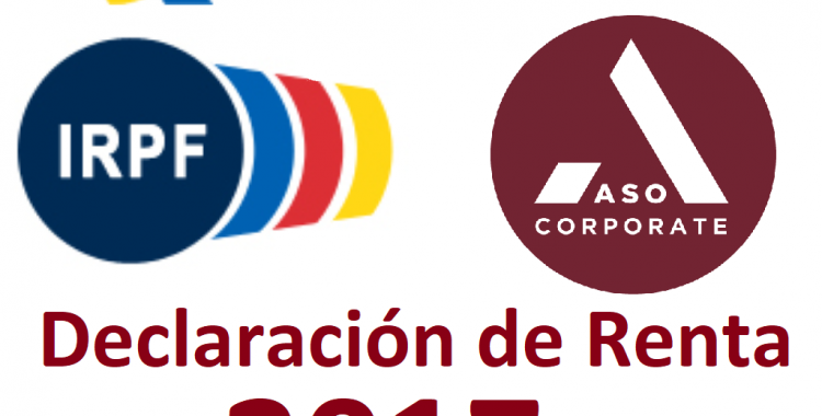 DECLARACIÓN RENTA 2017 ASO CORPORATE ABOGADOS GESTORES CONSULTORES